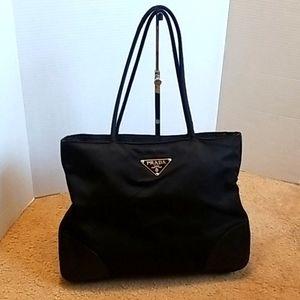 Prada Leather and Nylon Shoulder Bag